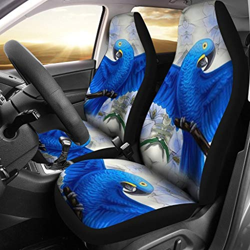 (Active-N-Healthy Hyacinth Macaw Parrot Print Car Seat Covers )
