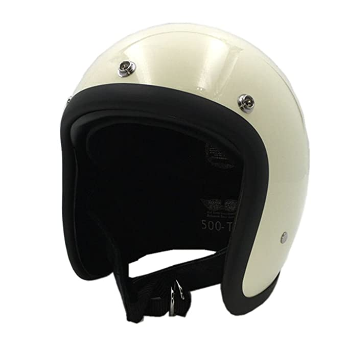 Amazon.com: TOUKUI Face Motorcycle Helmet Vintage Motorcycle Helmet Chopper Retro Helmet Bell: Sports & Outdoors