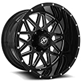 XF OFFROAD XF-211 Gloss Black Milled Wheels (20x10'' 5x114.3 5x127 -24 78.1)