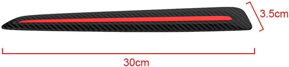 Mworld2 Car Bumper Guard 2PCS Anti Scratch Rubber Strip for Car Front//Rear Bumper Soft Bumper Protector Edge Guard Non-Slip Flexible Self-Adhesive Bumper Strip Fits Most Car