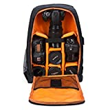 Camera Backpack Waterproof by G-raphy for DSLR/SLR Cameras (Canon, Nikon, Sony and etc), 17'' Laptops, Tripods, Flashes, Lenses and Accessories (Orange)
