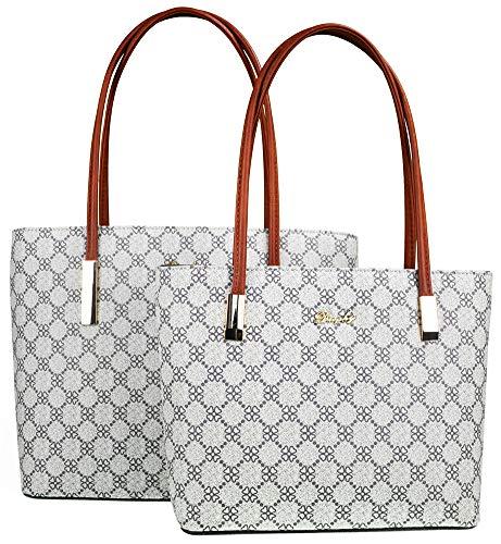 Lady Women Handbags Wallets Sets Signature Jacquard Zip File Satchel Purses Shoulder Tote Shopper Bags