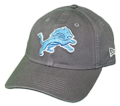 New Era Detroit Lions NFL 9Twenty Core Classic Graphite Adjustable Hat by New Era