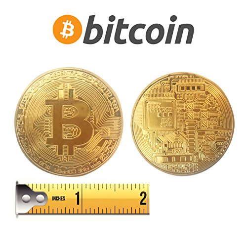 1 Ounce Color Splash - Golden Plated Bitcoin Coin-BTC Physical Metal Guritta Token ICO Digital Blockchain Crypto Currency You Hold For Commemorative Collection In Plastic Holder Cases|Great Funny Gift For Boy/Girl/Woman/Man