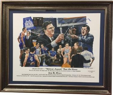 Joe B. Hall signed 1978 Kentucky Wildcats National Champs Legends 16X20 photo Framed 4 sigs Jack Givens/Kyle Macy/Kenny Walker
