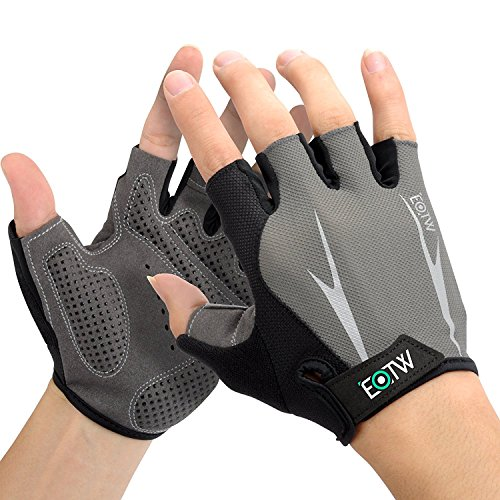 EOTW Cycling Gloves Bike Gloves Mountain Bike Gloves Motorcycle Bicycle Road Racing Cycle Half Finger Gloves with Anti-slip Pad Riding Gloves Shock-absorbing Sport&Work Gloves for Men and Women(S)