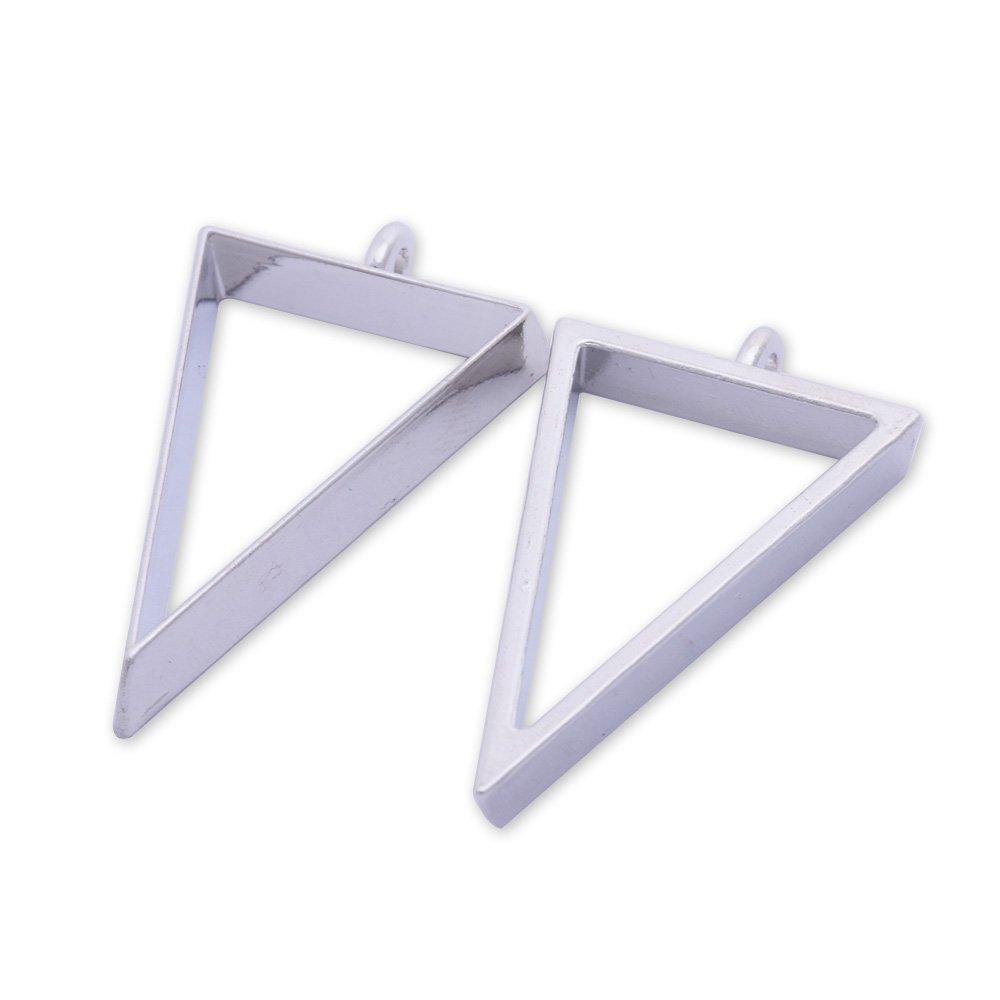 10pcs 35x22mm triangle framework zinc alloy accessories,open back pendant,resin mould,antique bronze