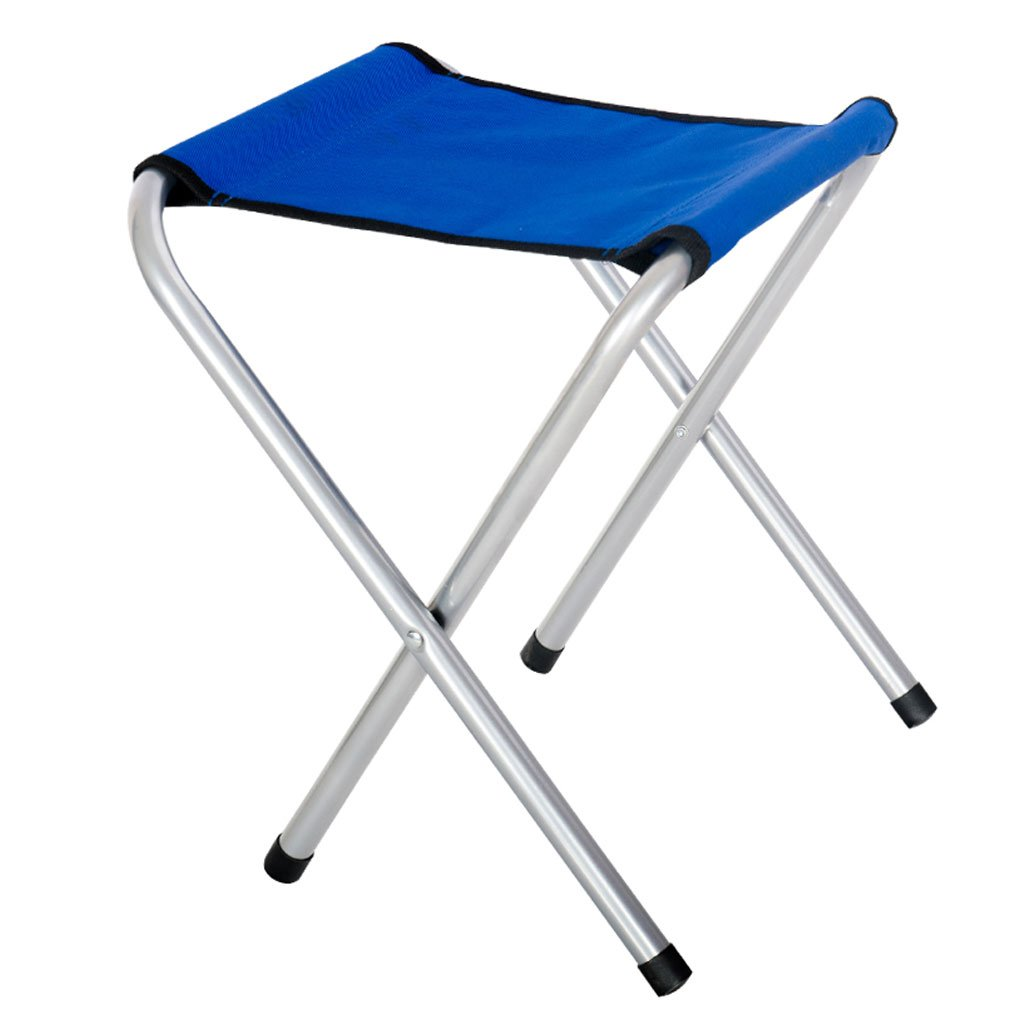 Vivoice Small Stool Portable Folding Chair Camping Stools Fishing Stool for Camping Traveling Fishing,9.84x11.02x13.39inch(blue)