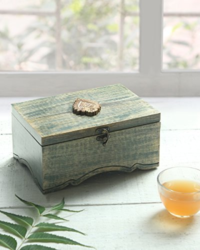 Find Discount storeindya, Multi Functional Wooden Box Organizer With Metal Latch, Stores-Tea Bags-Sp...