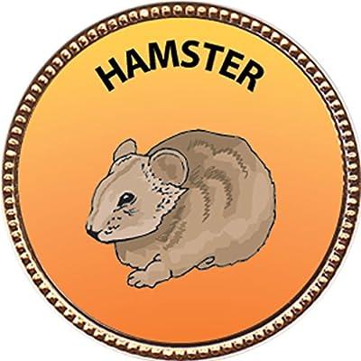 Keepsake Awards Hamster Award, 1 inch Dia Gold Pin Pets Collection: Toys & Games