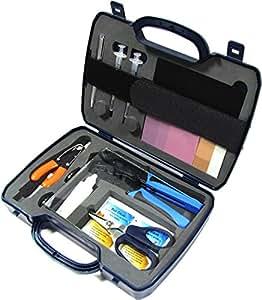 Cablematic - Maletín de herramientas para fibra óptica de 15 piezas