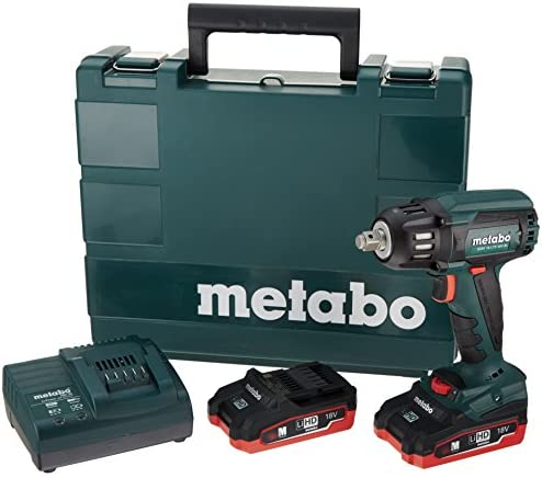 Metabo 18V Brushless 1 2 Sq.Impact Wrench 3.1Ah Kit