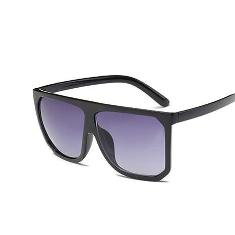 Yangjing-hl Gafas de Sol Marca Gafas de Sol Negras Grandes ...