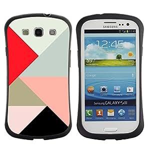 """Pulsar iFace Series Tpu silicona Carcasa Funda Case para SAMSUNG Galaxy S3 III / i9300 / i747 , Triángulo Polígono Rojo Juego Patrón melocotón Arte"""""""