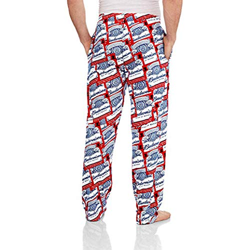 Budweiser Beer Knit Graphic Sleep Lounge Pants - Large