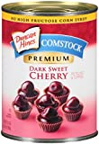 Comstock Premium Pie Filling & Topping, Dark Sweet Cherry, 21 Ounce (Pack of 12)