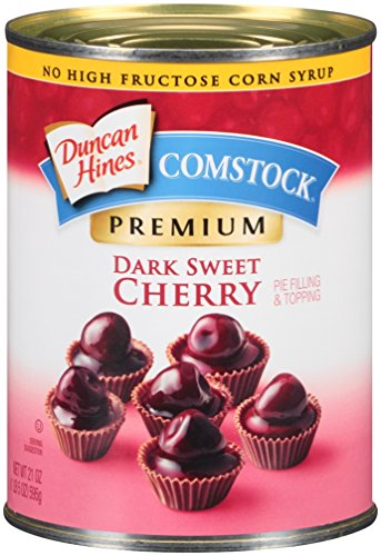 Comstock Premium Pie Filling & Topping, Dark Sweet Cherry, 21 Ounce (Pack of 12) by Comstock