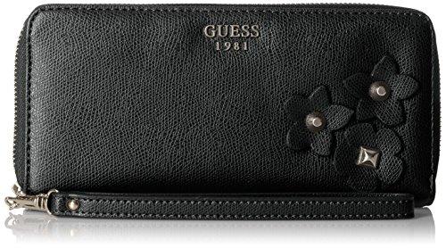 Liya Large Zip Around Wallet, black, One Size