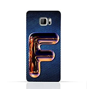 Htc U Ultra Silicone Case with Chrome Night Letter F Design