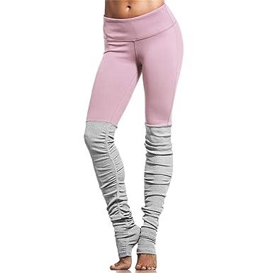 DOLINXH Lucylizz Pink Patchwork Yoga Pants Fitness Skinny ...