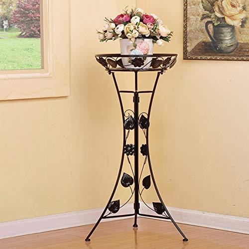 HZB Black European Iron Flower Shelf, Floor Type Indoor Living Room, Single Layer Green Flower Flower Rack. (Size : L4698.5cm) by HZB flower frame
