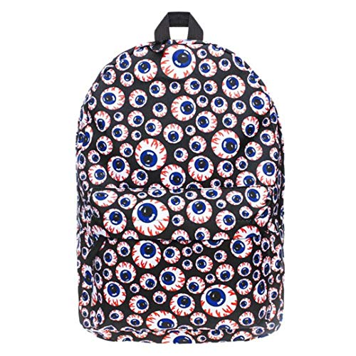 Amazon.com  Unisex Backpacks Exaggerated Street Men Women 3D Printed Travel  Backpacks Teen Casual Zipper Shoulder School Bags as show  Clothing c93e8568aa924