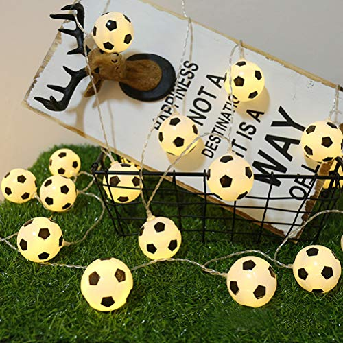 Uonlytech LED String Lights, 20Leds Football Shaped String Lights, Decorative Night Lights for Outdoors Party Bedroom (3PCS, 3M)