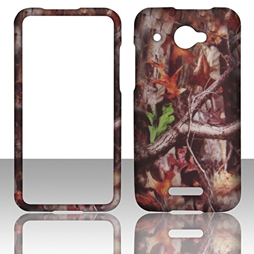(2D Camo Trunk V HTC DROID DNA 4G LTE X920E Verizon Hard Case Snap-on Hard Shell Protector Cover Phone Hard Case Case Cover Rubberized Frosted Matte Surface Hard Shells)