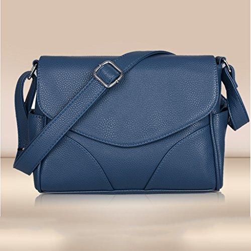 cuir Chuang Xin Couleur les en Designer femmes à Khaki Casual Yu pour bandoulière Bleu Fashion synthétique doux Sac Tote fR4qwAYA