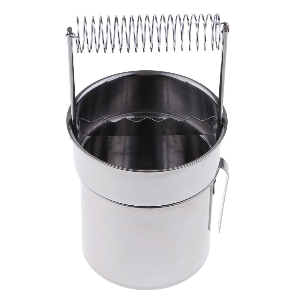 F Fityle Brush Washer Stainless Steel 195x95 mm Portatile