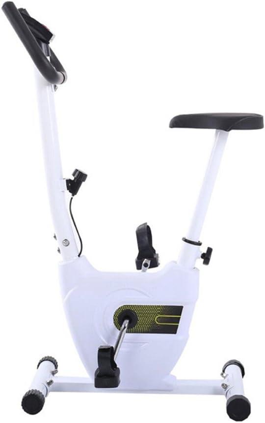 フィットネスバイクレーニングバイク 折りたたみエクササイズバイク磁気抵抗直立自転車で調節可能な高さとスピード静止自転車カーディオワークアウト用ホーム (色 : 白) 白