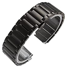 Watch Band, iitee Stainless Steel Link Replacement Watch Band For Huawei Smart Watch (black)