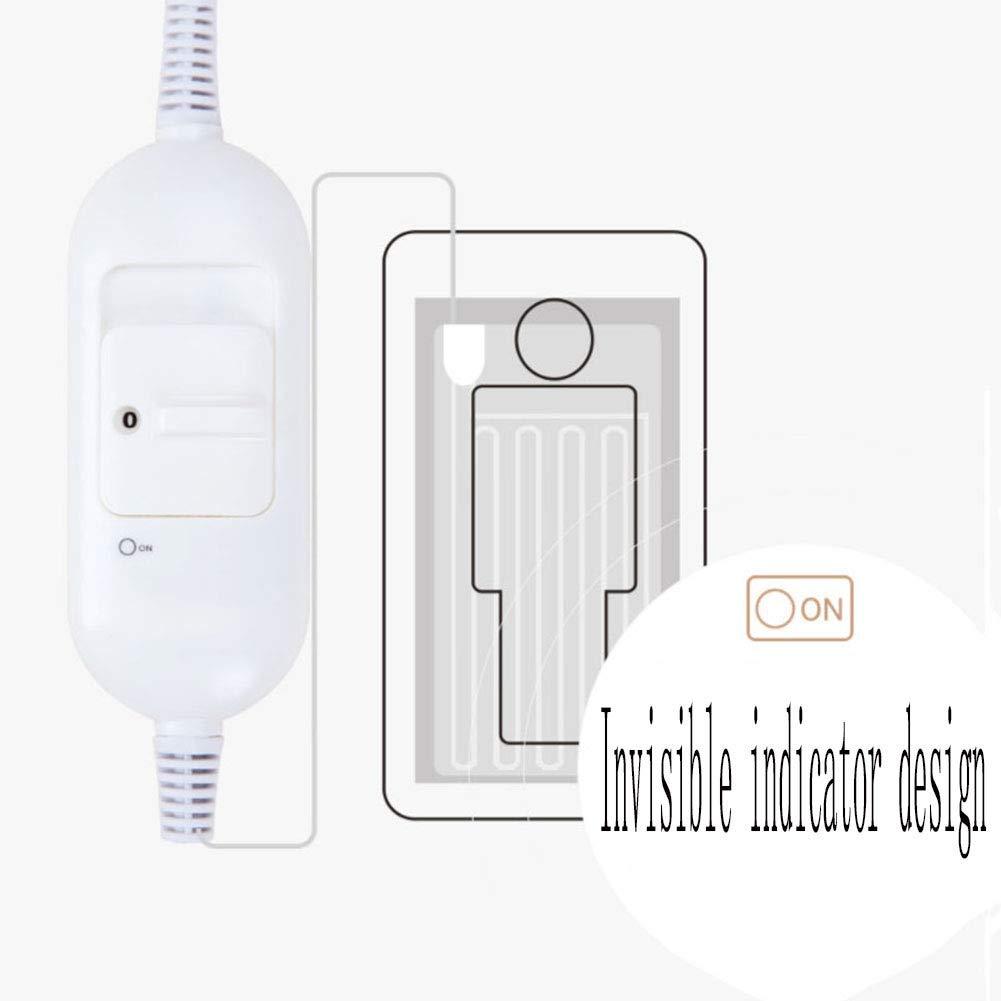 MINJIA Manta eléctrica Doble, Manta eléctrica Sola, 2 Archivos-Ajuste de la Temperatura-desconexión automática para el Dormitorio/el Cuarto/el lecho (Color ...