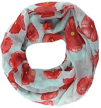 Gono Foreign Trade New Bali filato sciarpa fiori di papavero sciarpa sciarpa 186 cm x 94 cm Deep Blue