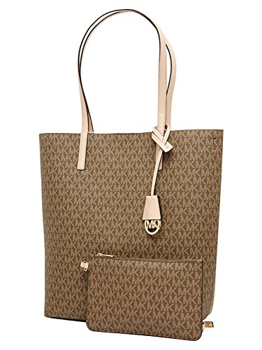 Michael Kors Hayley Large Convertible Tote Mocha/Bisque by Michael Kors