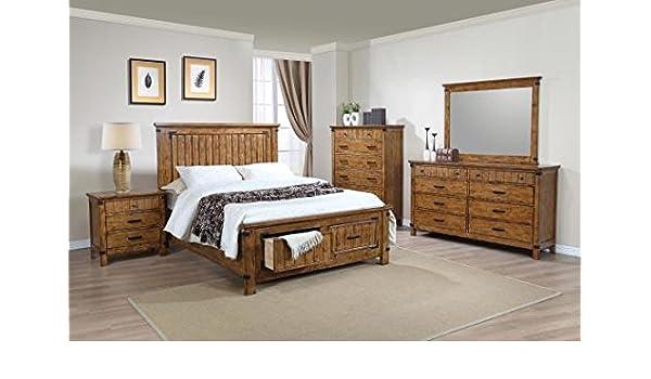 Amazon Com Inland Empire Furniture Brenner Storage King Bedroom Set Furniture Decor