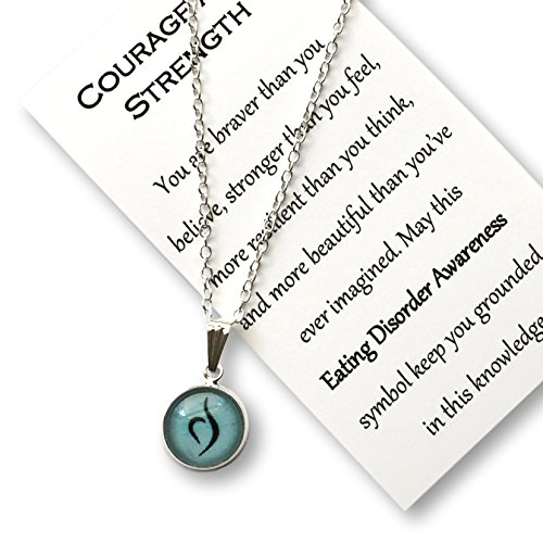Nesting Nomad Collection Eating Disorder Jewelry   Eating Disorder Recovery Symbol   Gift Necklace   Silver   Anorexia Awareness