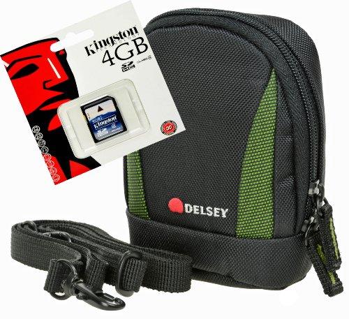Delsey delpix II verde-con scheda SD da 4GB