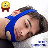 {2018 Improved Version of The} Anti-snoring CPAP Chin Strap.Stop Snoring Sleep Aid for Men and Women.Perfect for Properly Positioning Your Jaw Shut.