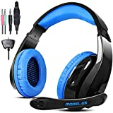 AFUNTA Gaming Headset for PS4 Xbox360 PC iPhone Smart Phone Laptop iPad iPod Mobilephones with Mic