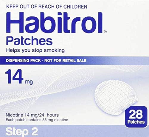 Novartis Habitrol 14mg Nicotine Patches, Step 2. Stop Smoking. 3 Boxes of 28 Each (84 Patches) 14 MG
