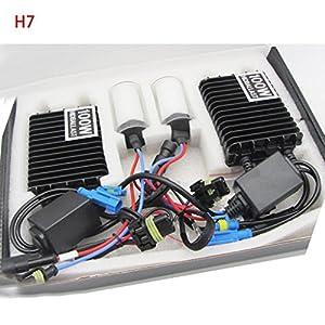 Bottone 1 Pair DC 9-16V 100W H7 HID Xenon Ballast Headlight Bulb Lamp 6000K