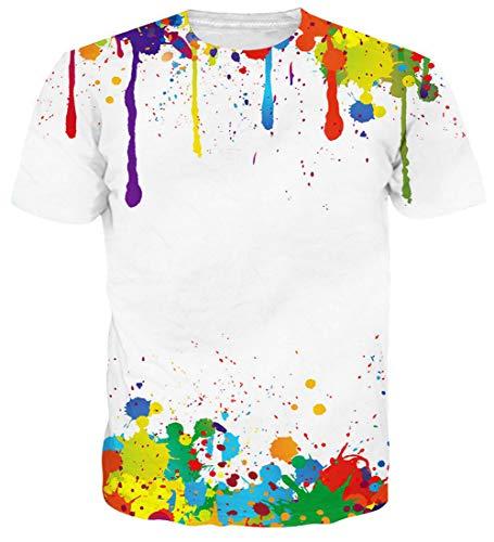 - Loveternal Papa Tee Shirts Unisex 3D Graphics Print Short Sleeve 3D T Shirts Guy Loose T Shirts Summer Cool Top Rock Tees for Men Women Slim Dj T Shirts for Men