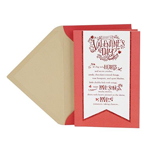 Hallmark Valentine's Day Greeting Card (White Banner)