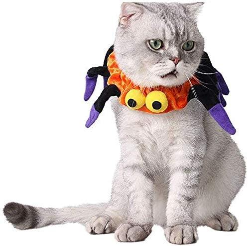 Ropa para mascotas bufanda del gato de Halloween de vestir Fly cintas pañuelo de colores mascota