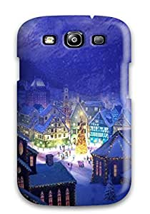 New Tpu Hard Case Premium Galaxy S3 Skin Case Cover(christmas Village Square ) by mcsharks