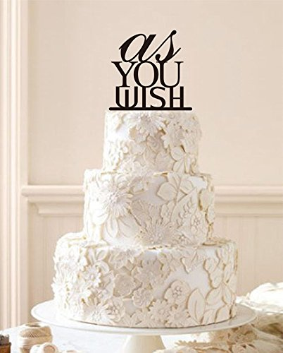 amazon com custom wedding cake topper as you wish greeting words