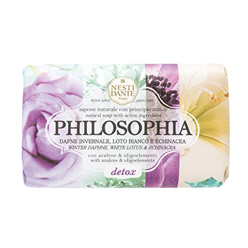 Nesti Dante Philosophia Natural Soap, Detox/Winter Daphne/White Lotus and Echinacea With Azulene and Oligoelements, 8.8 - Cleanser Echinacea