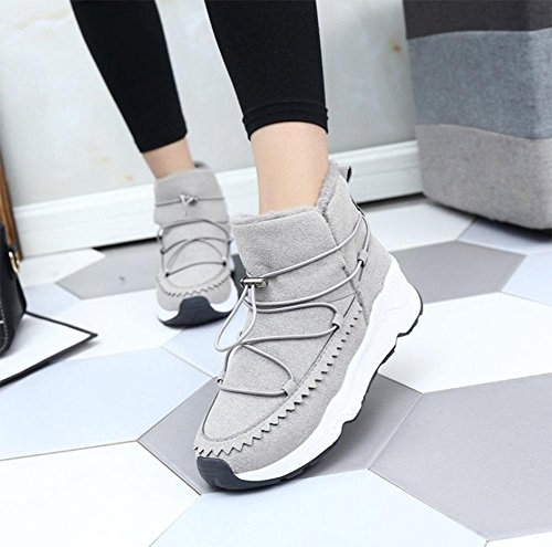 da moda Scarpe neve di cotone gray MEILI basse donna scarponi libero scarpe da stivali stivali donna caldi selvatici sport tempo da stivali xIwqdfU
