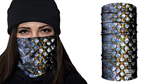Fast Mask Face Shield Unisex - Shimmering Scales -